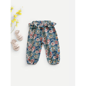 Toddlers flower pattern hipster pants