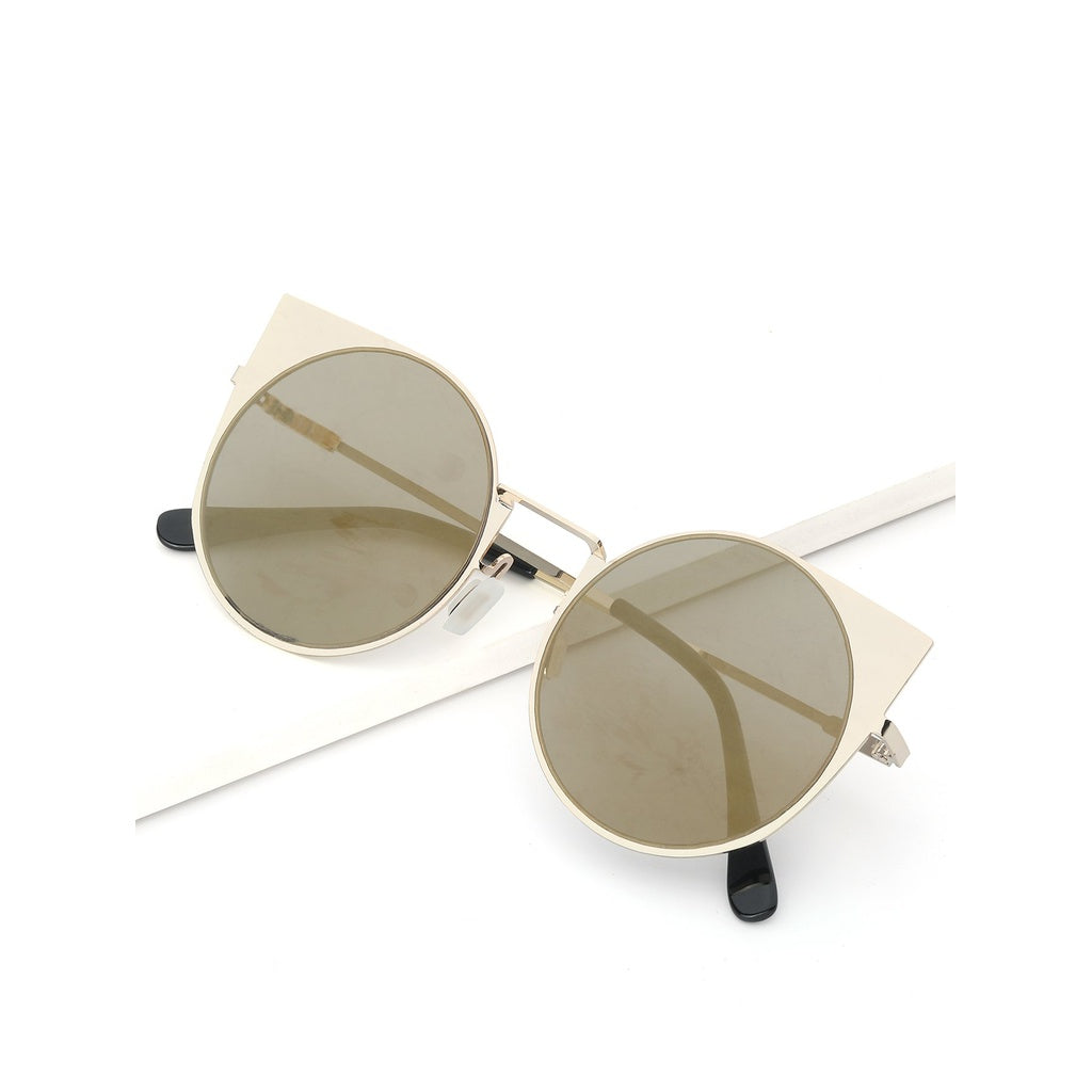 Girls Flat Lens Round Sunglasses