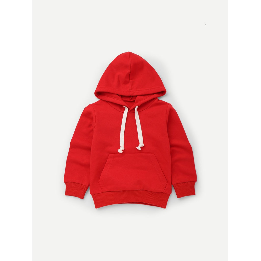 Girls Pocket Detail Hooded Sweatshirt