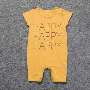 Short sleeve happy romper