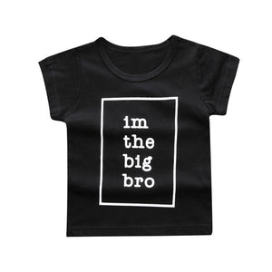 short sleeve black i'm the big bro shirt