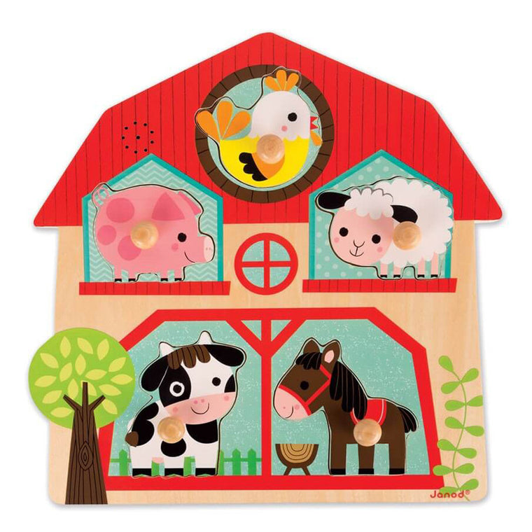 Musical Puzzle- My Little Farm Friends by Janod