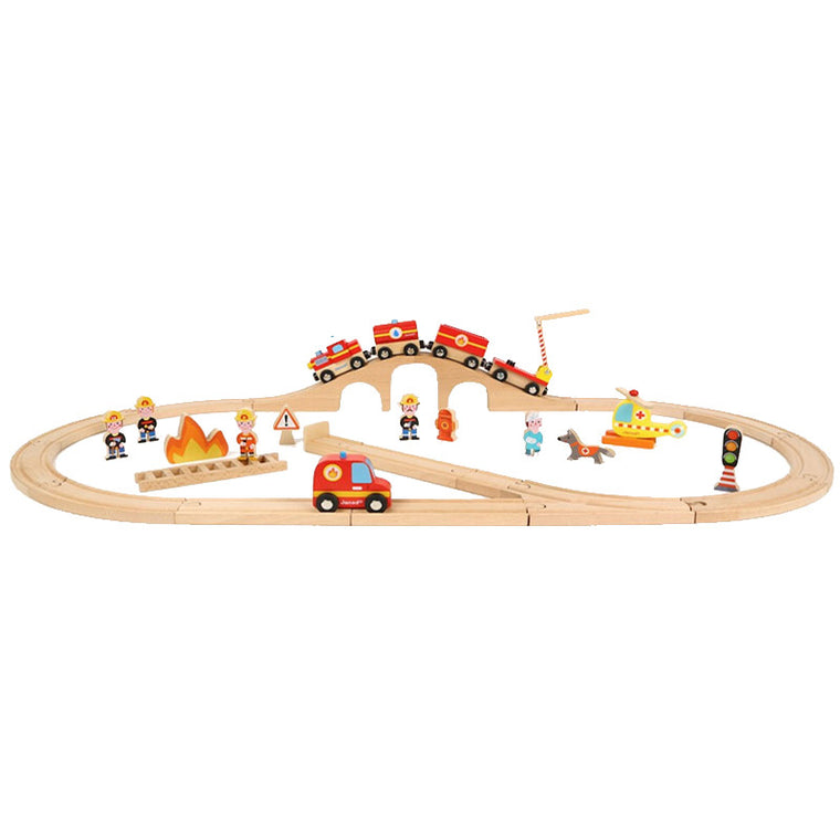 Story Express Firefighters track set by Janod