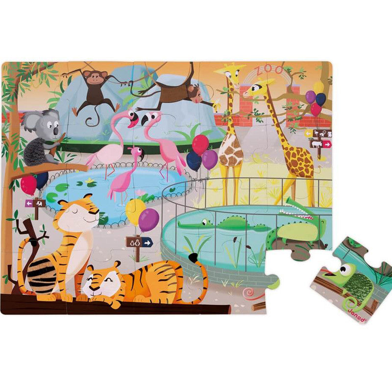 Tactile Puzzle - A Day At The Zoo - 20PCS