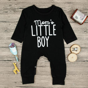 Mom's favorite black romper. Mom's Little Boy