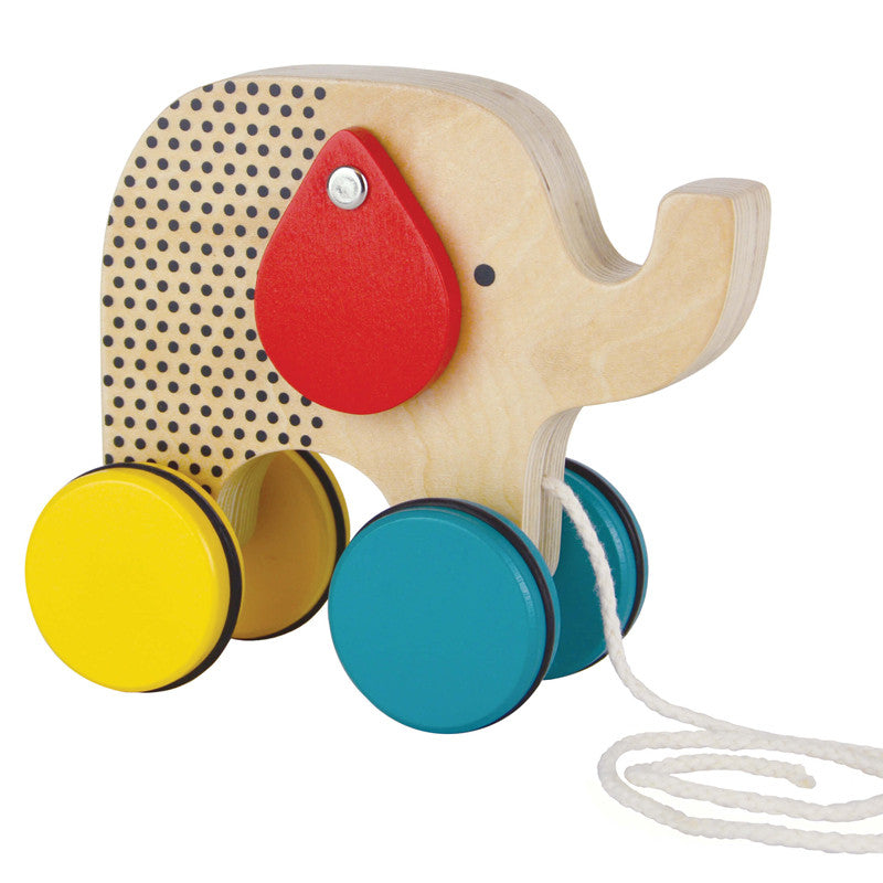 Jumbo Elephant Wood Pull Toy by Petit Collage