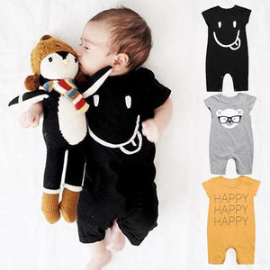 Sticking Tongue  out onsie cotton short sleeve