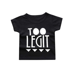 "New "" Too Legit  "" Letter print boys girls T-shirt Cotton kid shirt summer T-shirt Kids Tops kids T- Shirt baby clothes SC002"
