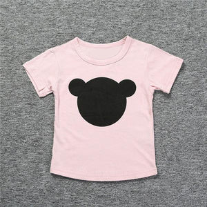 Super comfy chic pink bear print shirt and you can dress it up or down.