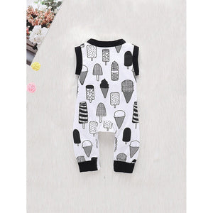 Sleeveless ice cream jumpsuit