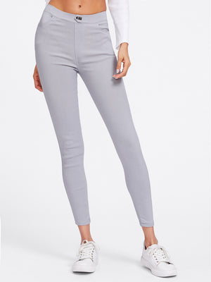 Grey Skinny casual jeggings.