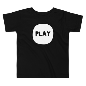 Simple black t-shirt with play print