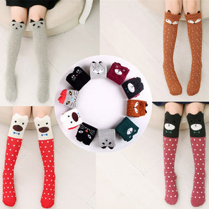 Cute designs of kids lovely knee high socks.