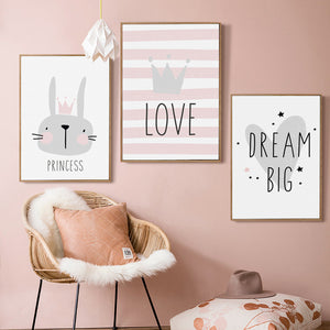 beautiful canvas prints to decorate your baby girl room