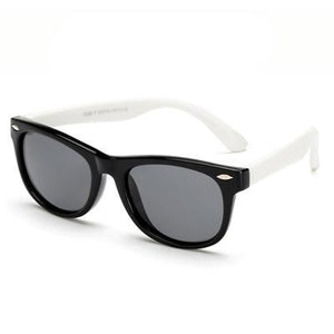 Super cool white polarized child safe sun glasses, UV400.