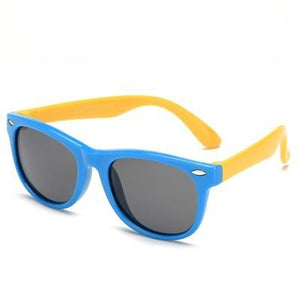 Super cool blue polarized child safe sun glasses, UV400.