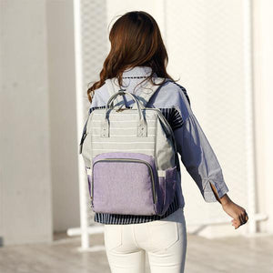 Purple Pocket Stylish Diaper Backpack