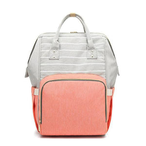 Coral Pocket Stylish Diaper Backpack