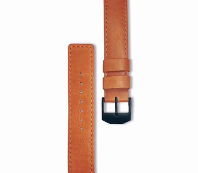 Brown Leather / Black Buckle