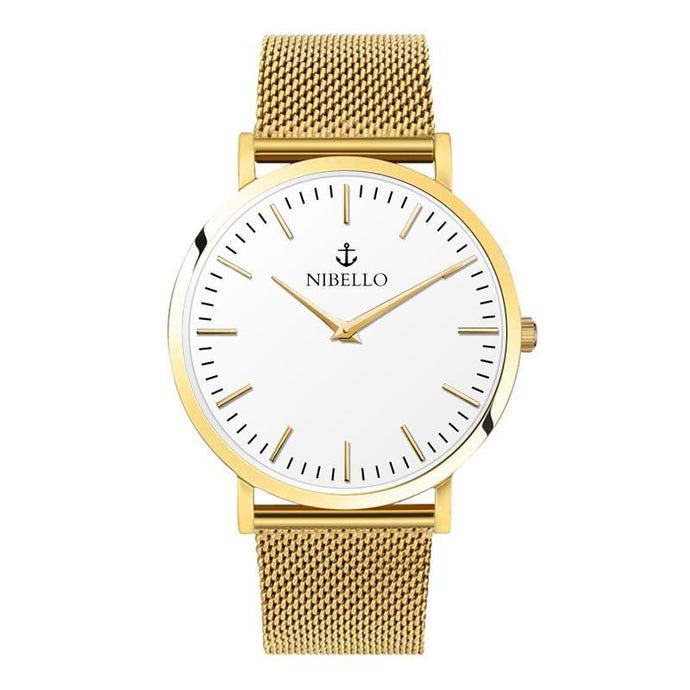 GOLD & WHITE EDITION - Nibello Watches
