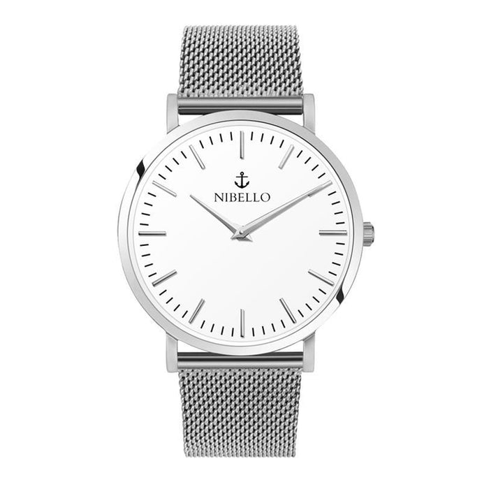 SILVER & WHITE EDITION - Nibello Watches