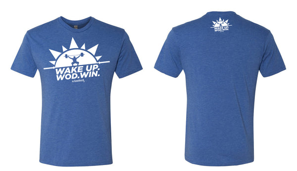 Men's Royal Blue Wake Up. WOD. WIN!