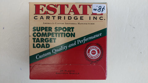 Estate Cartridge Inc, Super Sport Competition Target Load 12 Gauge 8 Shot (25 Rounds) - Action Arms by Mark, LLC