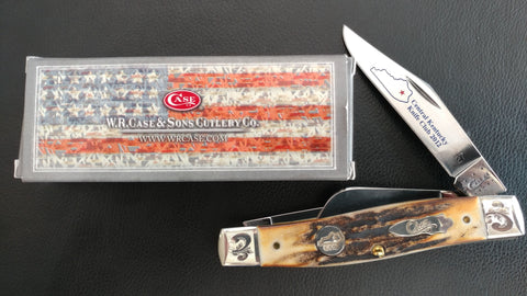 Case XX Central Ky Knife Club 2012 3 Blade Pocket Knife.