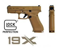 Glock 19X 9x19 Pistol Coyote Color
