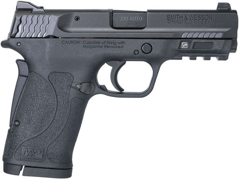 Smith & Wesson M&P380 Shield EZ M2.0 Pistol 380 ACP, 3.6 in, Black Synthetic 8 Rd.