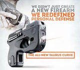 Taurus Curve .380 Black with LED lights and Laser.  Pocket clip with trigger guard