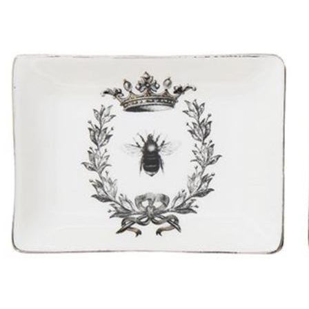 Stoneware Trinket Tray Queen Bee,  - Thomas Ann Decor