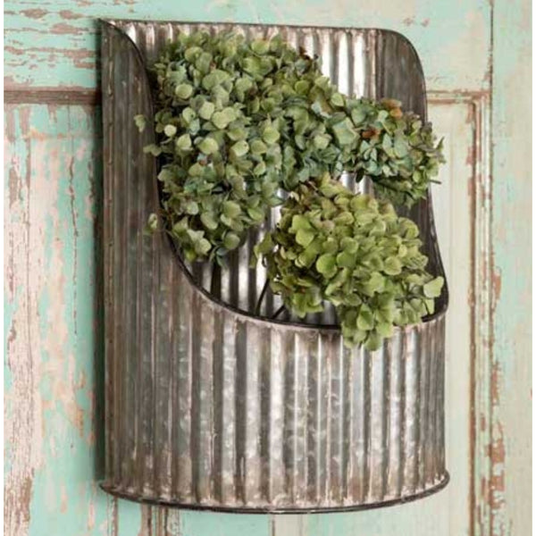 Corrugated Half-Round Wall Bin,  - Thomas Ann Decor