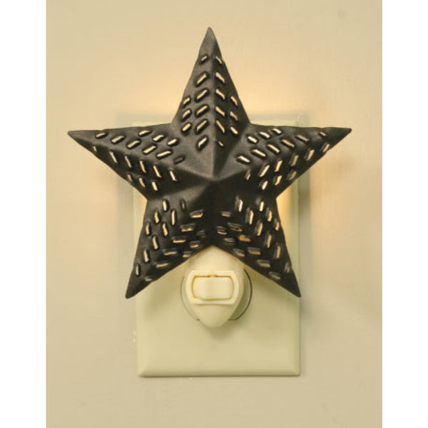 Punched Star- Night Light Bronze,  - Thomas Ann Decor