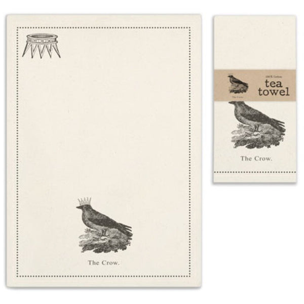 Crow Crown Tea Towel,  - Thomas Ann Decor