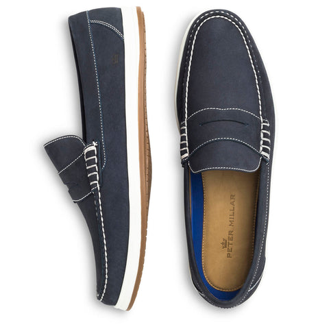 Peter Millar Navy Alta Deck Shoe