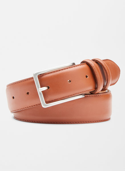 Peter Millar Crown Classic Leather Belt