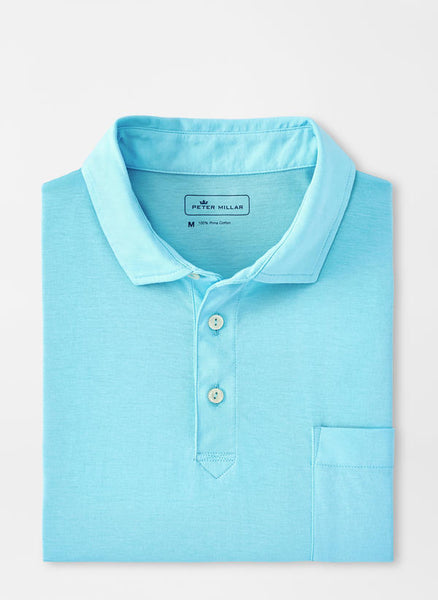 Solid Aqua Cotton Polo – Peter Millar