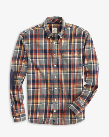 Flat view of the Harley Surflannel Shirt from Johnnie-O.