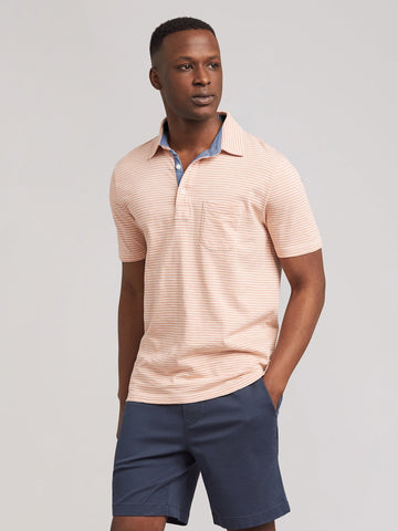 Salt Wash Clay Stripe Polo – Faherty