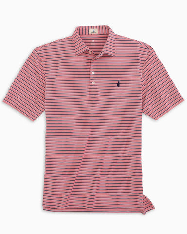McMann Striped Prep-formance Pique Polo