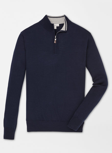 Crown Soft Merino-Silk Quarter-Zip — Peter Millar