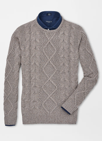 Cashmere Club Cable Crew Neck Sweater — Peter Millar Collection