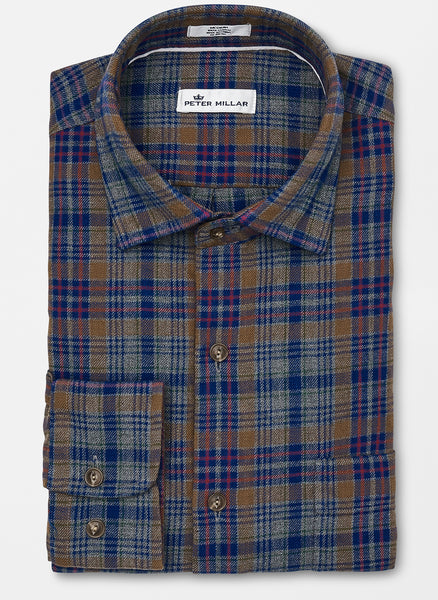 Peter Millar Linville Gorge Plaid Sport Shirt