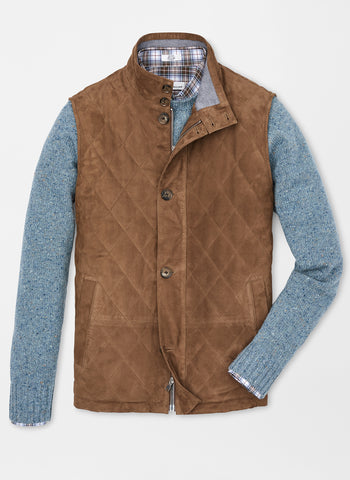 Peter Millar Worthington Suede Vest