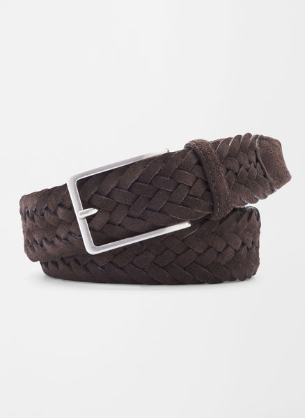 Leather and Wool Braid Belt — Peter Millar