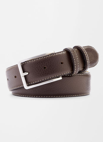 Pebble Grain Leather Belt — Peter Millar