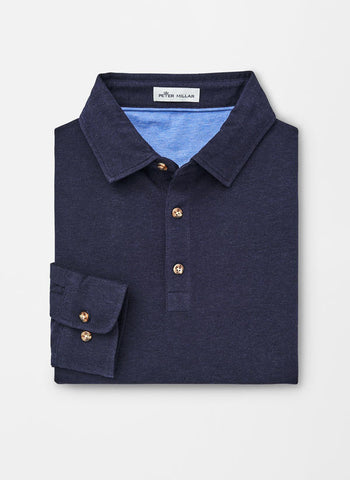 Peter Millar Crown Fleece Kingsland Long-Sleeve Polo