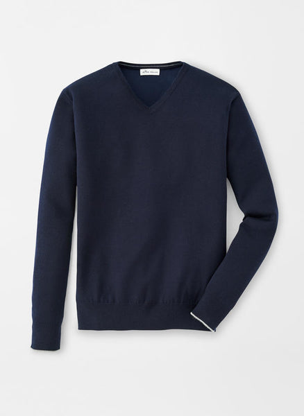 Crown Comfort Cashmere/Silk V-Neck Sweater — Peter Millar