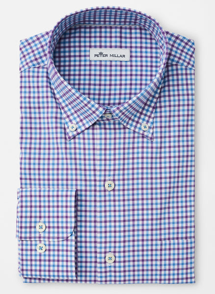 Crown Light Stretch Park City Tattersall Sport Shirt — Peter Millar